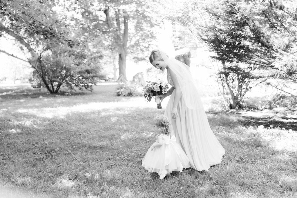 Bride and Flower Girl Eagles Nest Country Club Wedding