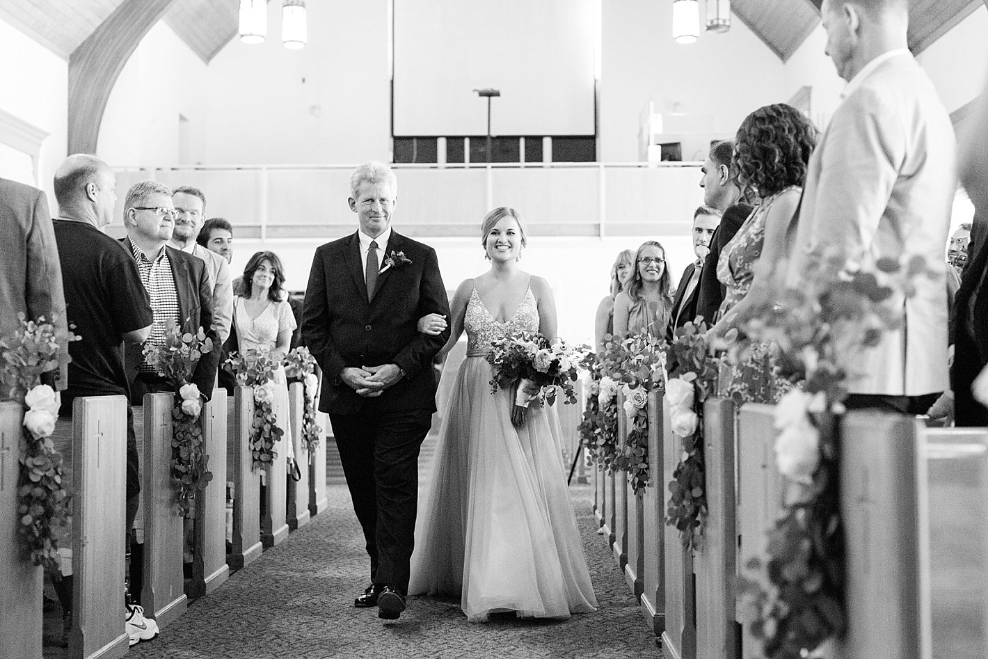 wedding ceremony photography at Central Presbyterian Church in Towson