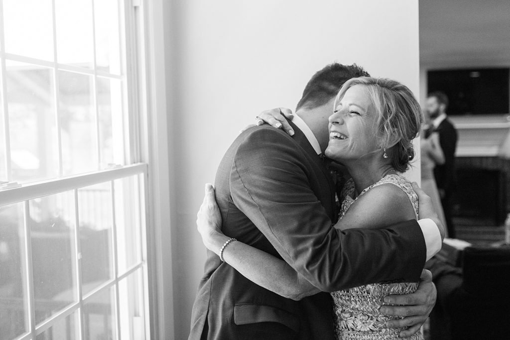 Groom and Mother Before Eagles Nest Wedding