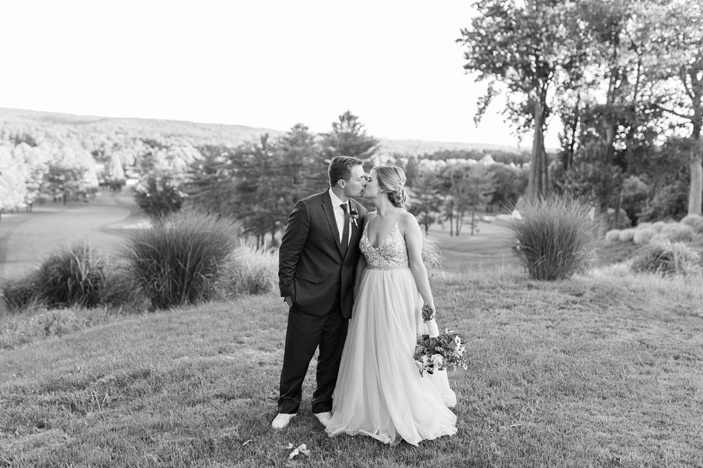 Black and White Outdoor Formal Portrait at Eagles Nest Country Club