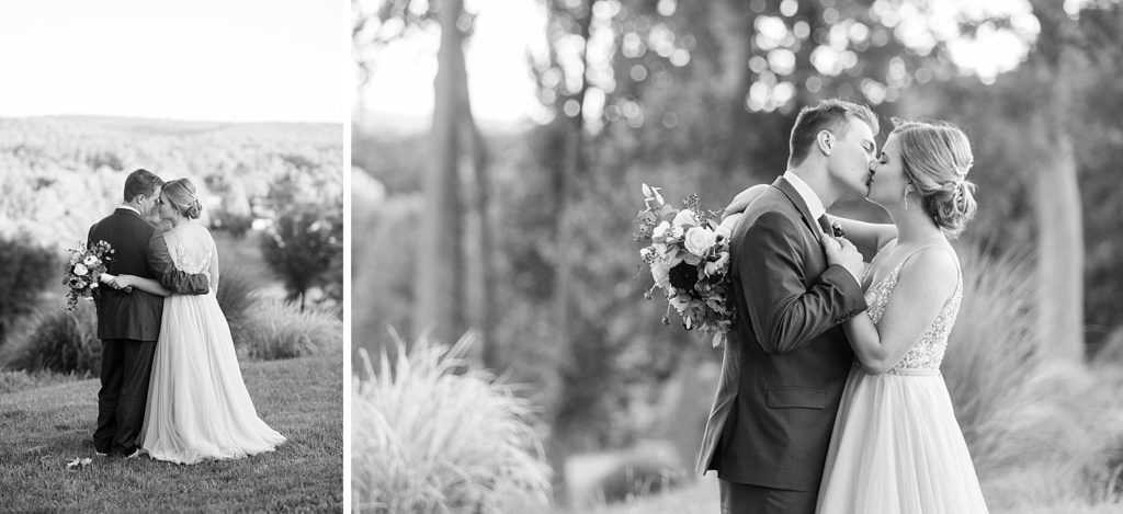 Black and White Portraits of Newlyweds at Eagles Nest Country Club