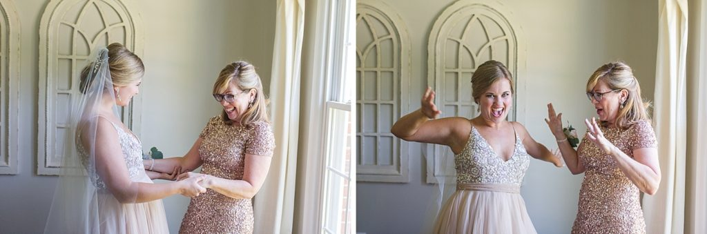 Mother and Bride Celebrate Before Eagles Nest Country Club Wedding