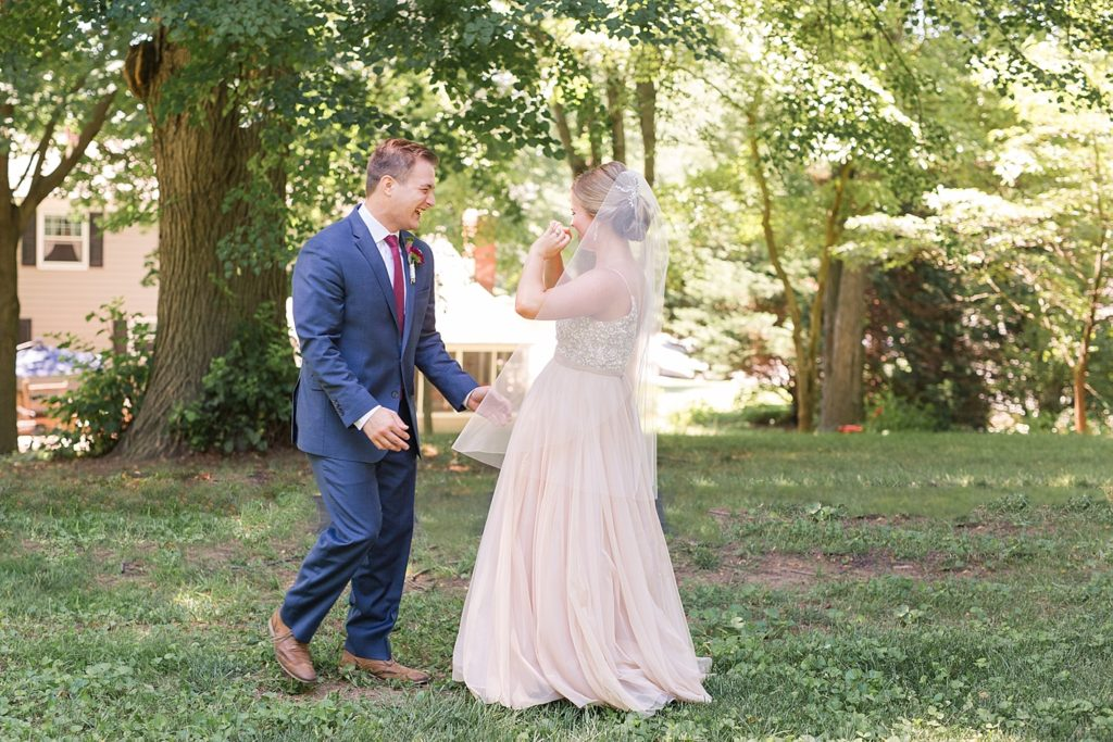 First Glance Before Eagles Nest Country Club Wedding