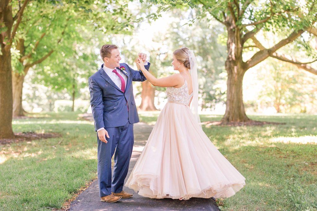 Bride Twirling Dress Eagles Nest Country Club Wedding