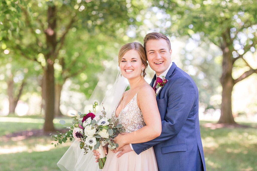 Eagle's Next Country Club Wedding Couple