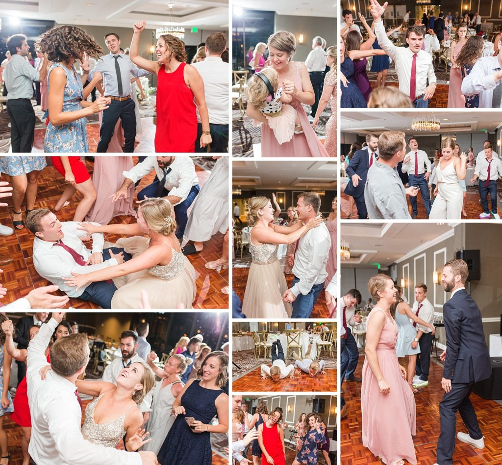 Dancing at Eagles Nest Country Club Wedding Reception