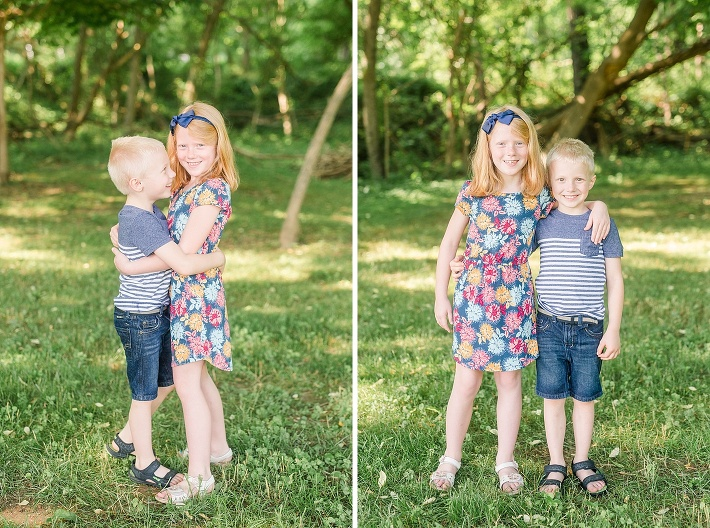 Centennial Park Family Photographer, Howard county family photographer, brother and sister portraits