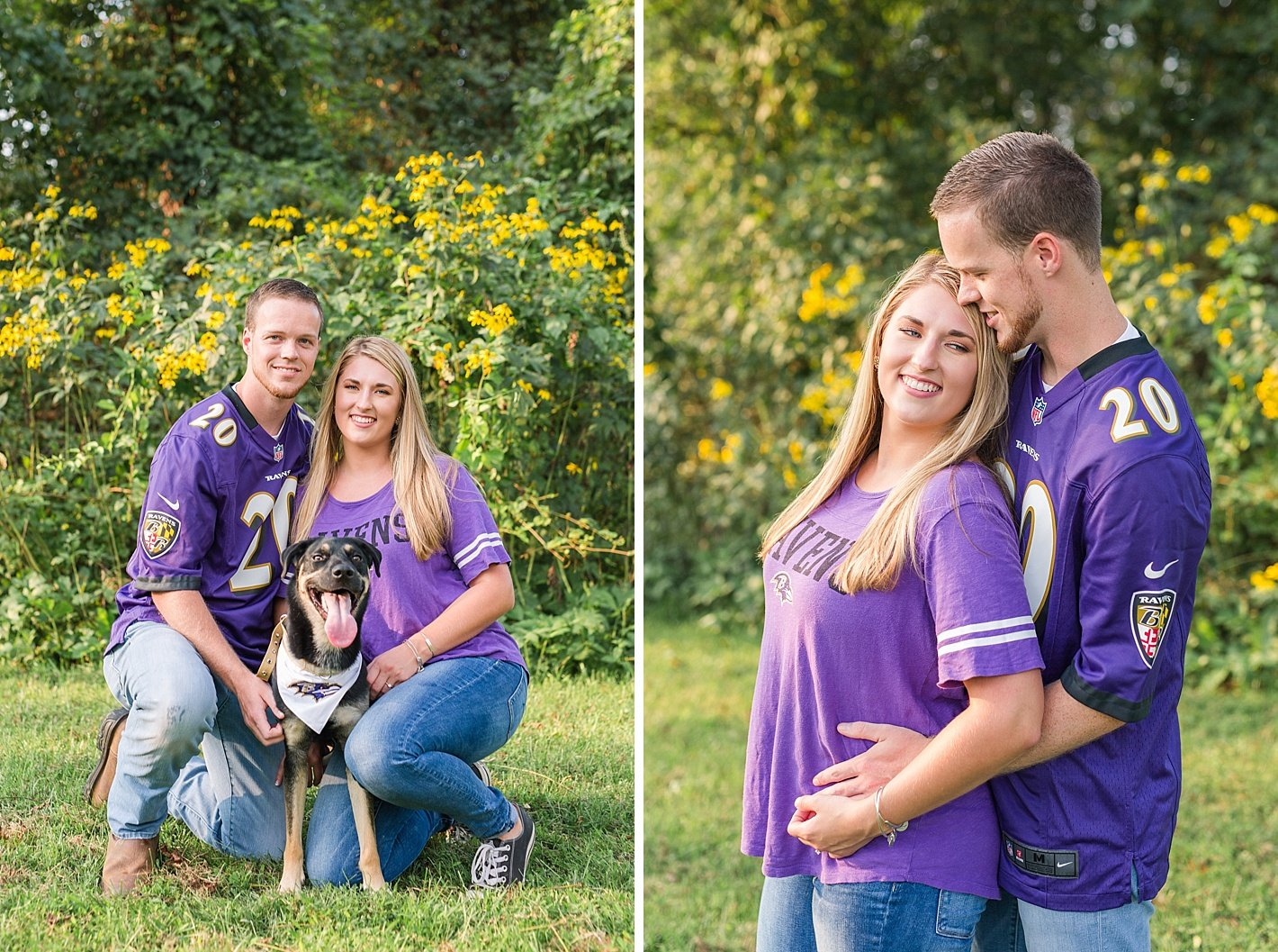 Ravens engagement photography, NCR trail engagement photography, Baltimore engagement photographer