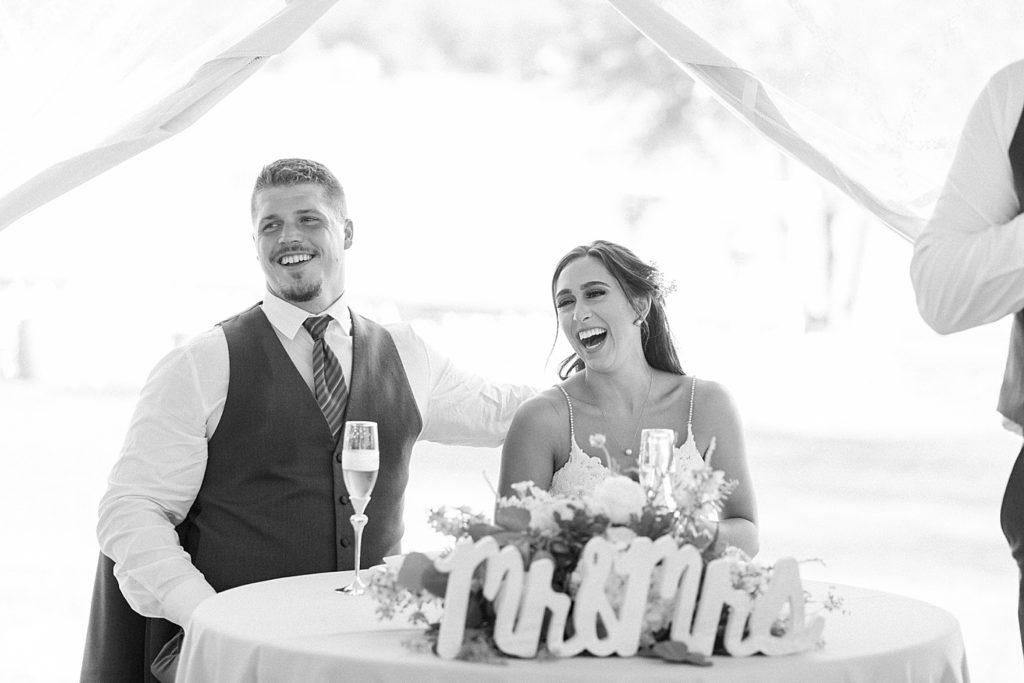 Head Table at Bohemia Overlook Wedding Reception