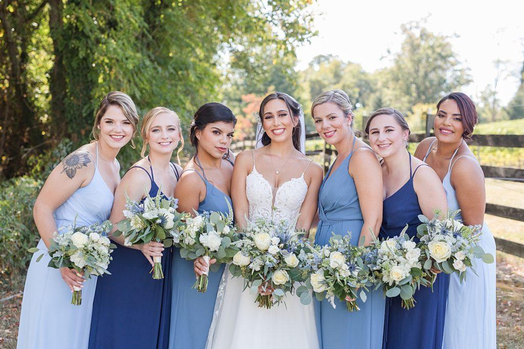 Bridesmaids Portrait at Bohemia Overlook Wedding Venue