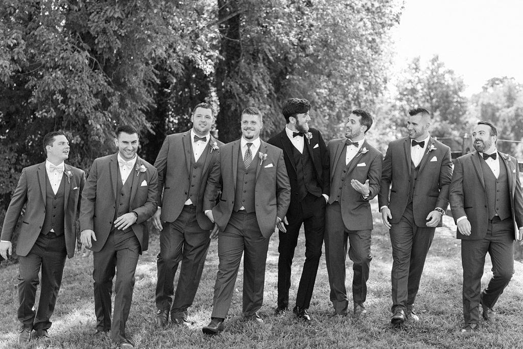 Groomsmen at Bohemia Overlook Wedding Venue