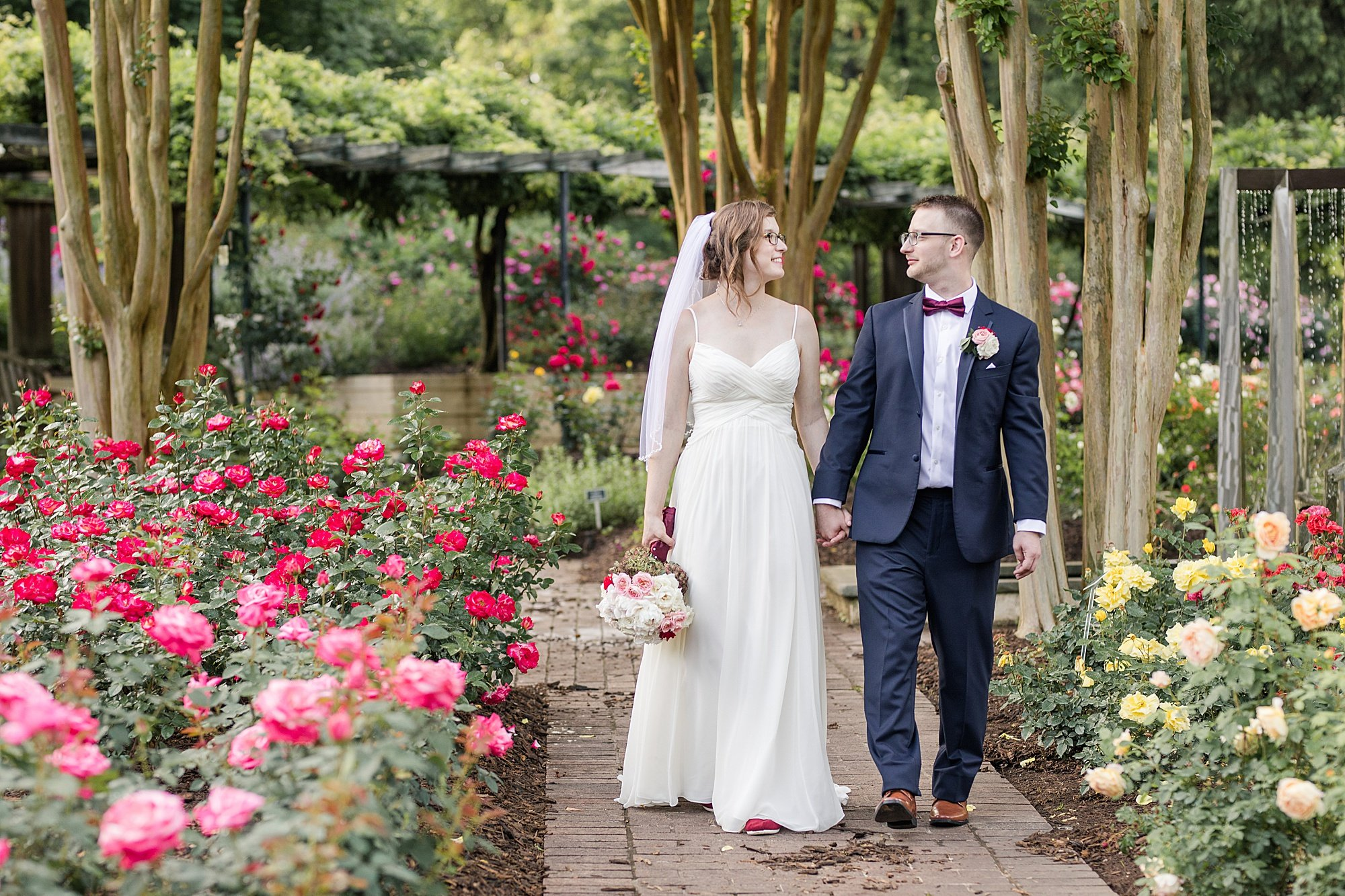 Brookside Garden Wedding in Rose Garden