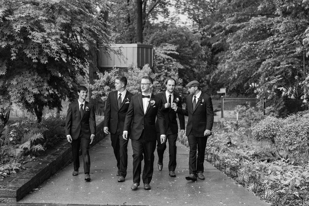 Brookside Garden Wedding Groomsmen